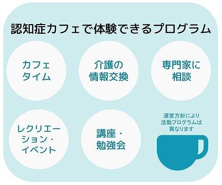 認知症カフェで体験できるプログラム