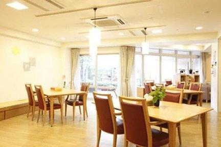 メディカルホームくらら練馬江古田 リビングルーム兼食堂兼機能訓練室